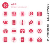 app icon set. collection of 20...