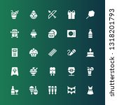 party icon set. collection of... | Shutterstock .eps vector #1318201793