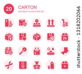 carton icon set. collection of... | Shutterstock .eps vector #1318202066