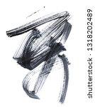 watercolor abstract art black   ...   Shutterstock . vector #1318202489