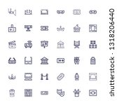 editable 36 theater icons for... | Shutterstock .eps vector #1318206440