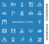 editable 22 machinery icons for ... | Shutterstock .eps vector #1318206446