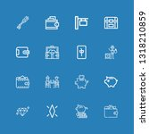 editable 16 rich icons for web... | Shutterstock .eps vector #1318210859