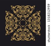 gold ornament baroque style.... | Shutterstock .eps vector #1318212959