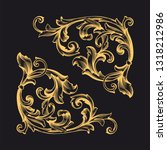 gold ornament baroque style.... | Shutterstock .eps vector #1318212986
