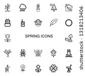 editable 22 spring icons for... | Shutterstock .eps vector #1318213406