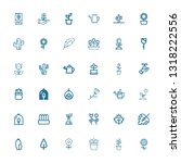 editable 36 flora icons for web ... | Shutterstock .eps vector #1318222556