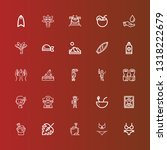 editable 25 palm icons for web... | Shutterstock .eps vector #1318222679