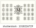set of elegant capital letters. ... | Shutterstock .eps vector #1318226729