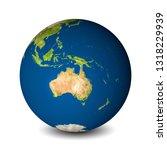 earth globe isolated on...   Shutterstock . vector #1318229939