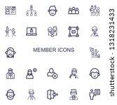 editable 22 member icons for... | Shutterstock .eps vector #1318231433