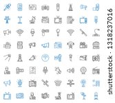 broadcast icons set. collection ... | Shutterstock .eps vector #1318237016