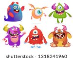 cartoon monsters collection.... | Shutterstock .eps vector #1318241960