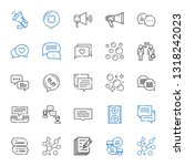 communicate icons set.... | Shutterstock .eps vector #1318242023