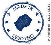 made in lesotho stamp. grunge...   Shutterstock .eps vector #1318243169