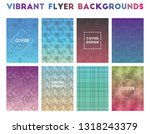 vibrant flyer backgrounds....   Shutterstock .eps vector #1318243379