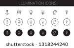 illumination icons set.... | Shutterstock .eps vector #1318244240