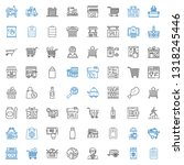 cart icons set. collection of... | Shutterstock .eps vector #1318245446