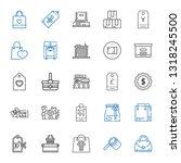 merchandise icons set.... | Shutterstock .eps vector #1318245500
