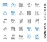 reminder icons set. collection...