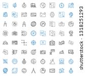geography icons set. collection ... | Shutterstock .eps vector #1318251293