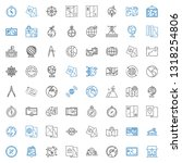 geography icons set. collection ... | Shutterstock .eps vector #1318254806