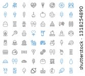 snack icons set. collection of... | Shutterstock .eps vector #1318254890