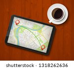 city map route navigation... | Shutterstock .eps vector #1318262636
