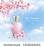 new perfume with sakura... | Shutterstock .eps vector #1318264643