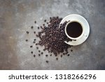 americao coffee cup on the... | Shutterstock . vector #1318266296