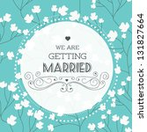 vector illustration. wedding... | Shutterstock .eps vector #131827664