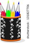 pencil box | Shutterstock .eps vector #131827706