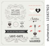 set of wedding ornaments and...