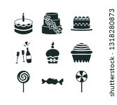 9 candy icon set | Shutterstock .eps vector #1318280873