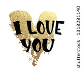 vector gold glitter heart.... | Shutterstock .eps vector #1318281140