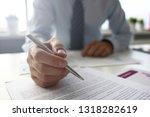 hand of businessman in suit... | Shutterstock . vector #1318282619