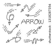hand drawn and doodle arrows ... | Shutterstock .eps vector #1318287356