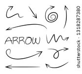 hand drawn and doodle arrows | Shutterstock .eps vector #1318287380
