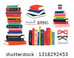 World Book Day. Stack Of Books  ...