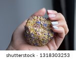 the girl holds in her hand a... | Shutterstock . vector #1318303253