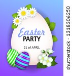 easter party  twenty first of... | Shutterstock .eps vector #1318306250