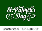 vector st. patricks day... | Shutterstock .eps vector #1318309319