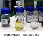 chemical substances in glass... | Shutterstock . vector #1318322159