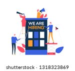 we are hiring   flat design... | Shutterstock .eps vector #1318323869