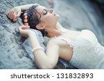 portrait of beautiful bride....   Shutterstock . vector #131832893