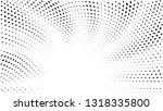 halftone gradient sun rays... | Shutterstock .eps vector #1318335800