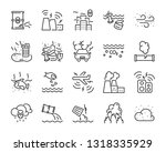 set of air pollution icons ... | Shutterstock .eps vector #1318335929