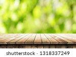 empty wooden table background | Shutterstock . vector #1318337249