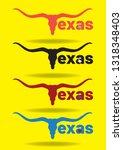 texas logo design with longhorn ... | Shutterstock .eps vector #1318348403