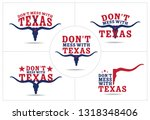 don't mess with texas logo... | Shutterstock .eps vector #1318348406